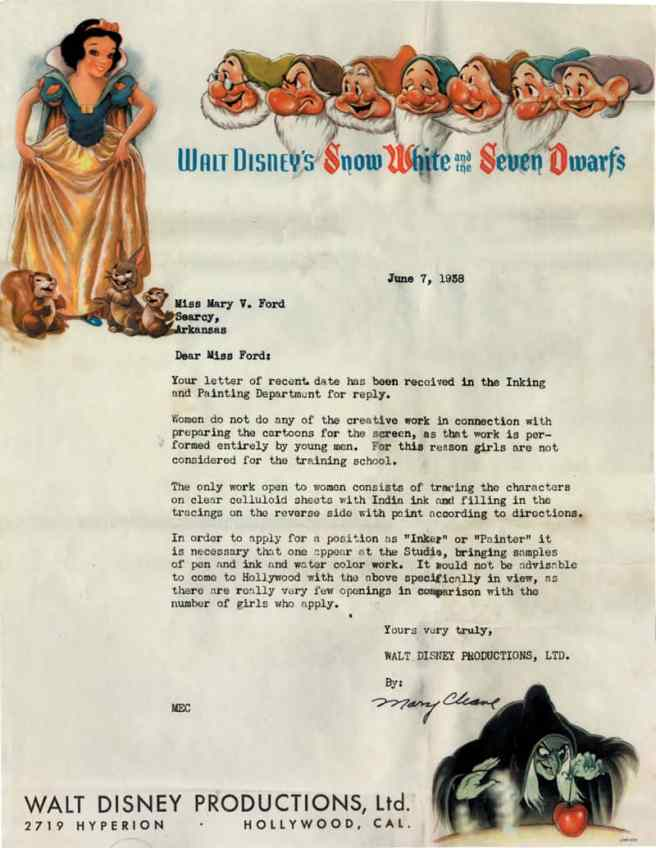 disneyrejectionletter1938