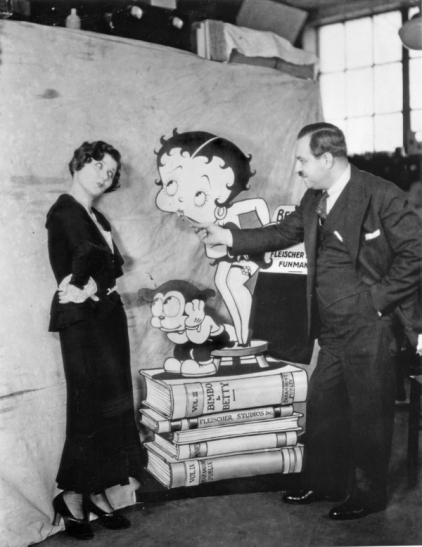 photograph-of-mae-questel-and-max-fleischer