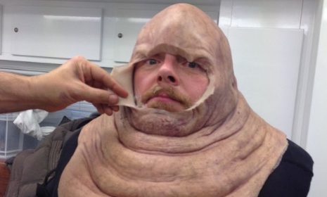Pegg in Make Up (Radio Times)