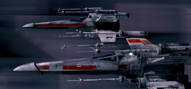 X-Wings during trench run (The Star Wars Report)
